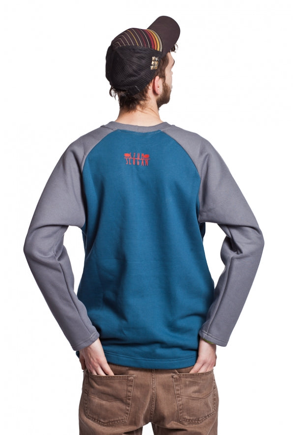 Slogan Young Sweatshirt By Szum - Blue - Veenofs