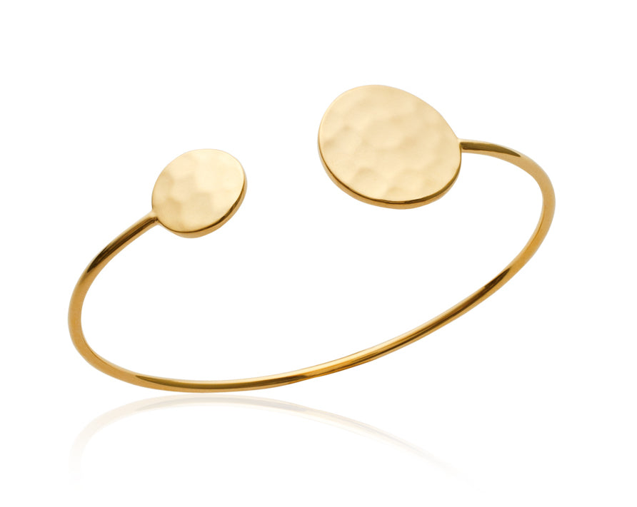 Hammered Disc Bangle