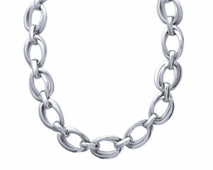 Chunky Silver Double Linked Chain