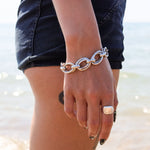 Chunky Silver Double Linked Bracelet