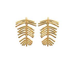Articulated Fern Leaf Earrings
