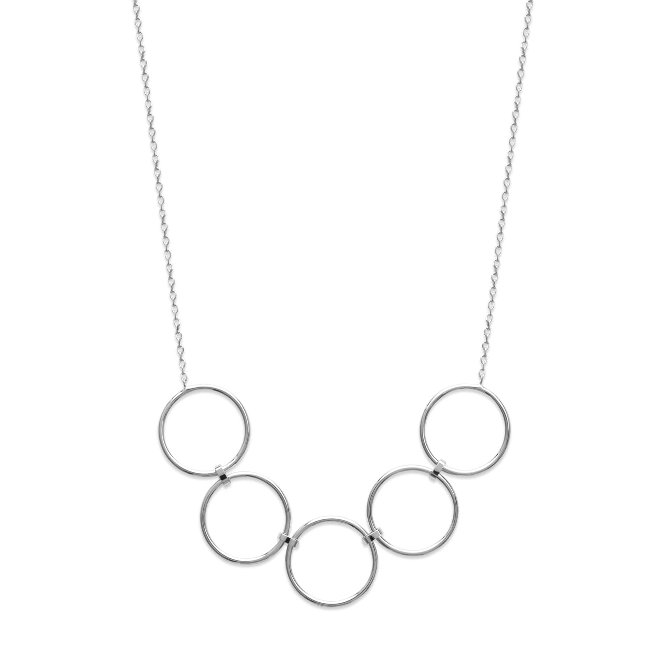 Silver Linked Spheres Necklace
