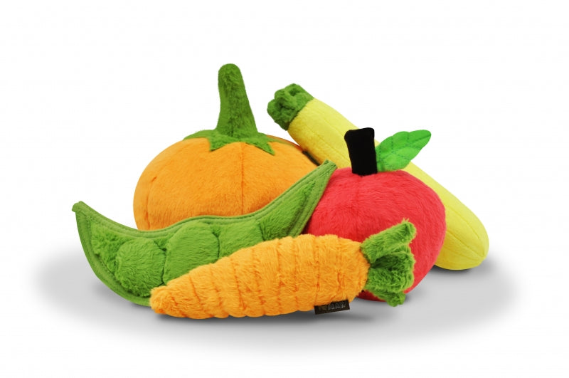 Pumpkin Plush Dog Toy