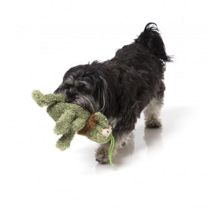 Scratchy The Green Flea Plush Dog Toy