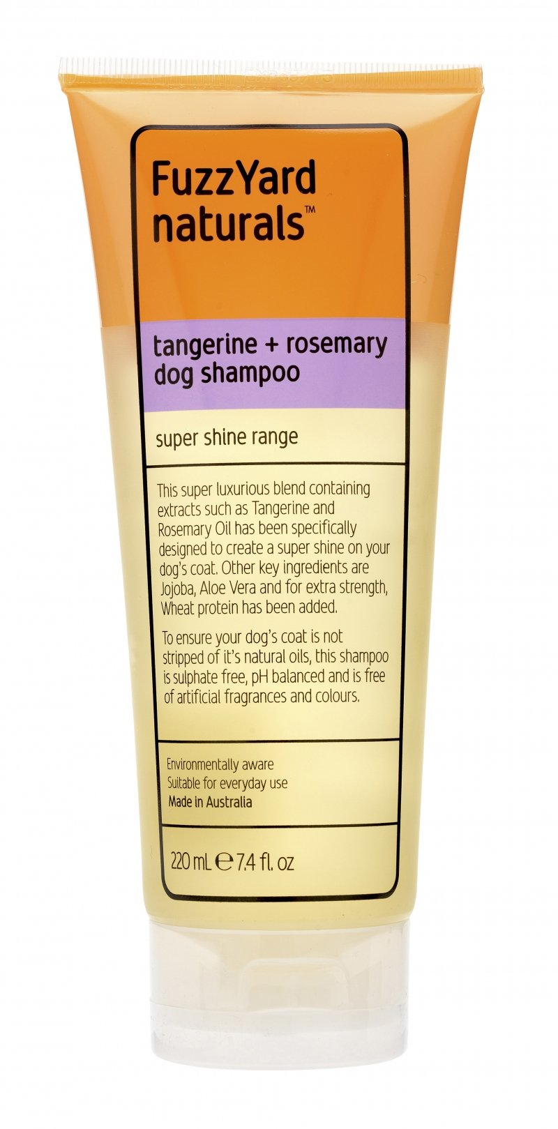Super Shine Dog Shampoo Shampoo Tangerine + Rosemary 220ml