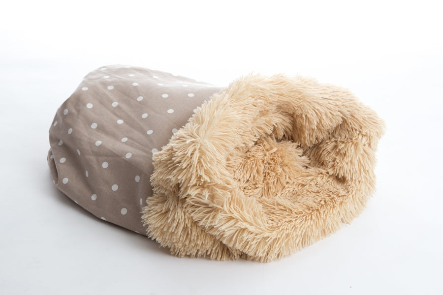 Pooch Pod Shaggy Camel & Dotty Taupe