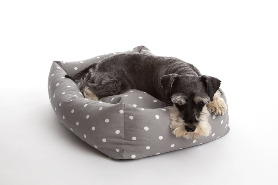 Dotty Smoke Bolster Bed