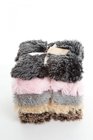 Shaggy Black Frost Blanket
