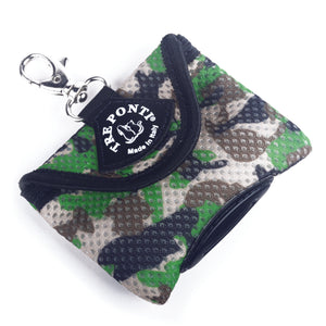 Green Camo Mesh Poo Bag Dispenser