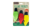 Feline Frenzy Christmas Lights Cat Toy Set of 3