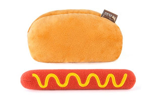 Hot Dog Plush Dog Toy