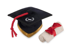 Back To School K9 Scholar Hat & Diploma Plush Dog Toy