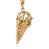 Ice Cream pendant - Gold plated