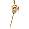 Lollipop pendant - Gold plated