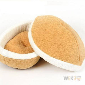 Burger Bun Shaped pet bed - The Pet Needs