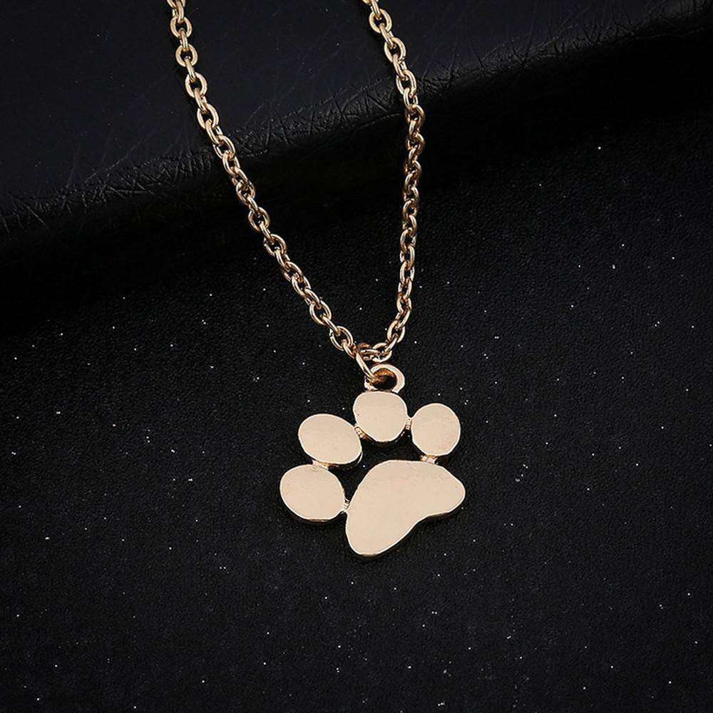 Dog paws small pendant clavicle necklace - The Pet Needs