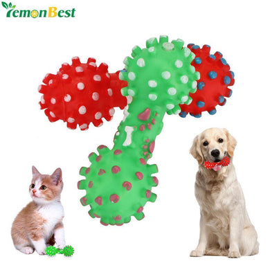 Toy Soft Small Rubber Bone Pet Sound Toys For Dog Cat