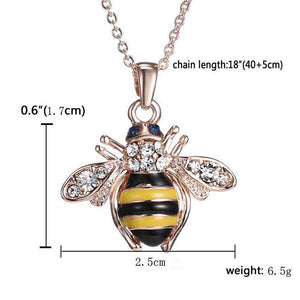 Bee Rose Gold Pendant Necklace - The Pet Needs