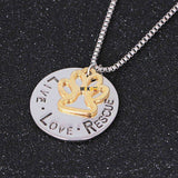 Round Letter Dog Claws Choker Card Pet Necklace - The Pet Needs