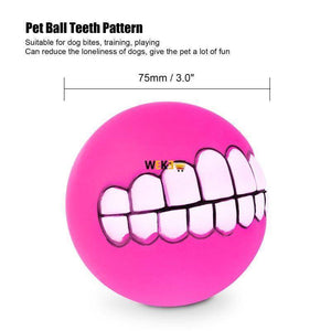 Funny Ball Teeth Silicon Toy - The Pet Needs