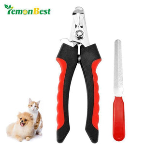 Nail Clipper Trimmer Ergonomic with Guard and Nail File - The Pet Needs