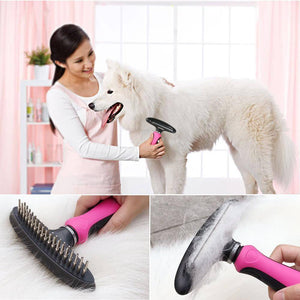 2 in 1 Double Sided Pet Grooming Tool - The Pet Needs