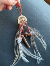 Decorative Custom Hanging Antler with Feathers