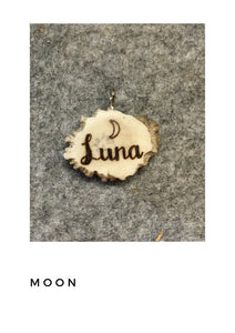 Pre-designed  Antler Name Tag BURR or LAKI