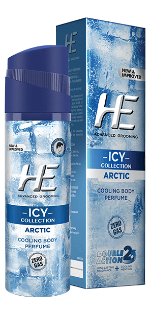 HE - Buy HE Icy Collection Arctic cooling Body Perfume Online in India.