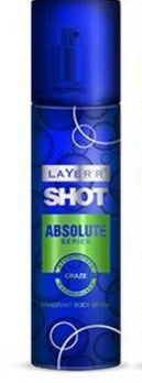 Shop Layerr Shot Absolute Series Craze Perfume Body Spray 135ML for Men
