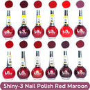 Shop Shiny Red Maroon and Red Mix Nail Polish Shiny- 3 (Pack of 12, 8ml Each)