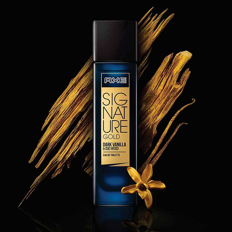 AXE Signature Gold Dark Vanilla & Oud Wood Eau de Toilette 80ML Online in India