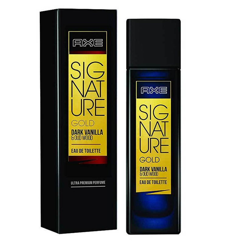 AXE - Buy AXE Signature Gold Dark Vanilla & Oud Wood Eau de Toilette 80ML Online in India.