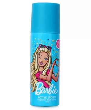 Barbie Active Sport Fragrance Body Spray 100ML