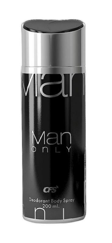 Shop CFS Man Only Black Deodorant 200ML For Men