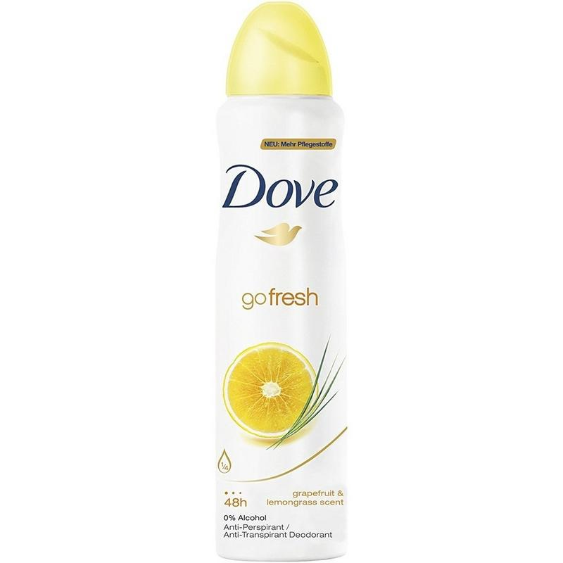 Shop Dove Go Fresh Grapefruit & Lemongrass Antiperspirant 150ML For Women