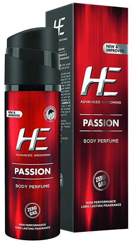 HE Body Spray - Buy HE Advanced Grooming Passion Body Perfume 120ML Online in India.