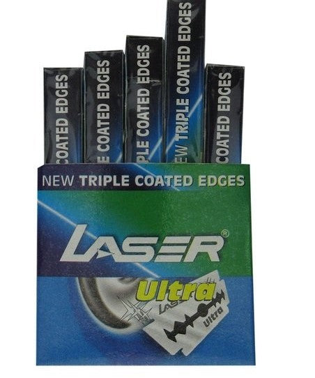 LASER Blade Cartridges - Buy Laser Ultra Blade  Saloon Pack 50 Blades Online in India.