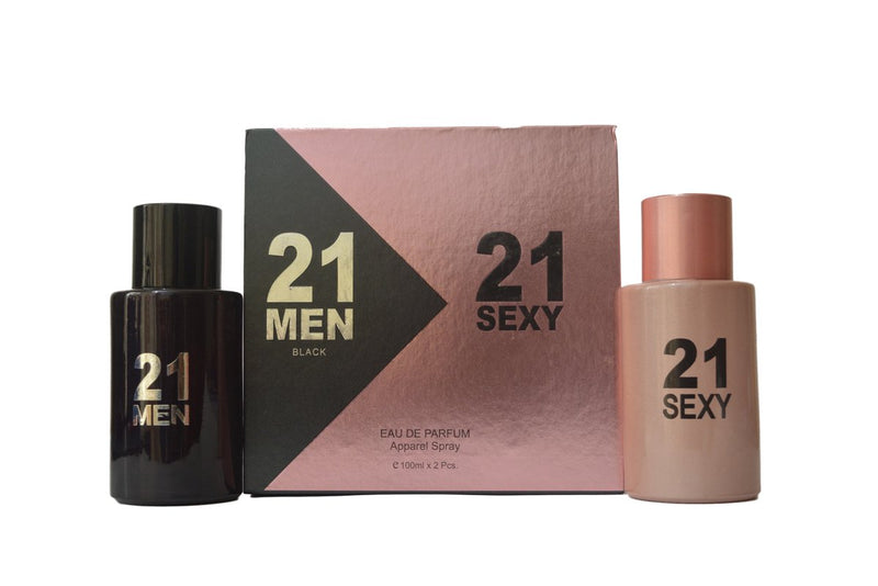 Shop Perfume King 21 Men Black & 21 Sexy Gift Set Perfume 100ML+100ML