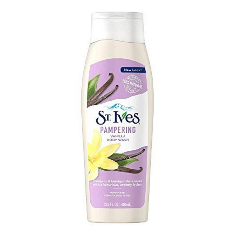 Shop ST. IVES Pampering Vanilla Body Wash 400ML