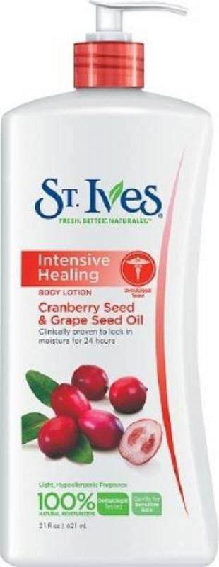 ST. IVES Body Lotion - Buy ST. IVES Repairing Cranberry And Grape Seed Oil Body Lotion 621ML Online in India.