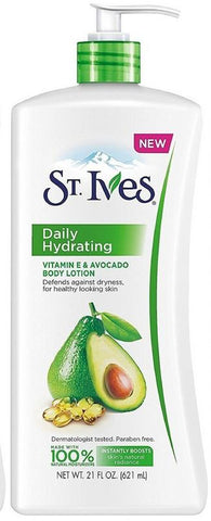 St. Ives Hydrating Vitamin E And Avocado Body Lotion 621ML
