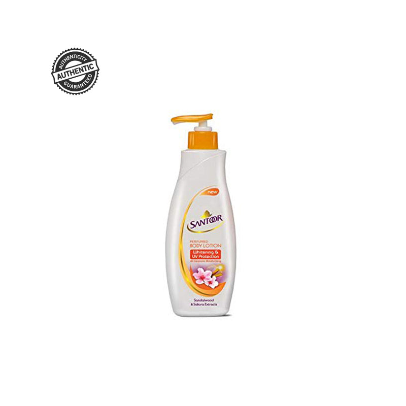 SANTOOR Body Lotion - Buy Santoor Perfume Body Lotion White & UV Protection Sandalwood Extracts 250ML Online in India.