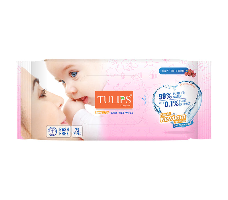 Shop Tulips Baby Wet Wipes 72 Wipes