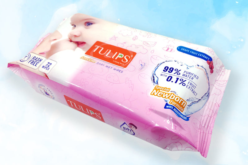 Tulips Baby Wet Wipes 72 Wipes
