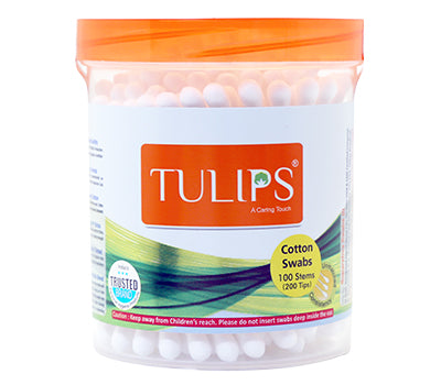TULIPS - Buy Tulips Cotton Buds  in a Round Jar Online in India.