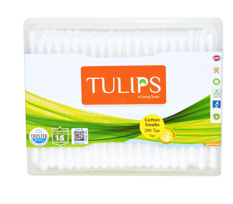 TULIPS - Buy Tulips Cotton Buds  in a Flat Box Online in India.