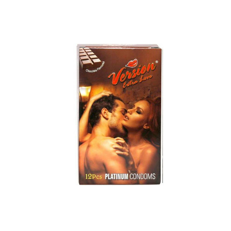 Shop Version Male Condom Extra Love Multi-Textured Chocolate Flavor