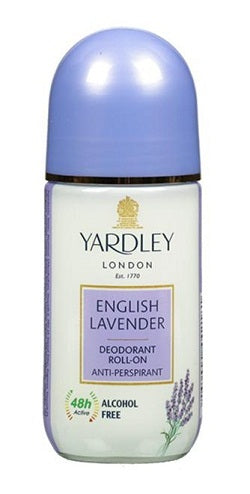 Yardley London English Lavender Deodorant Roll On Alcohol Free 50ML Online in India.