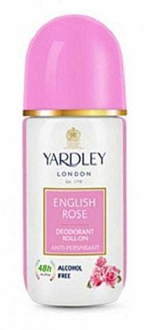 Yardley London English Rose Deodorant Roll Ons Alcohol Free 50ML for Women